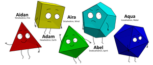 The Polyhedrons and Their Powers by Jett-Hill-Artist