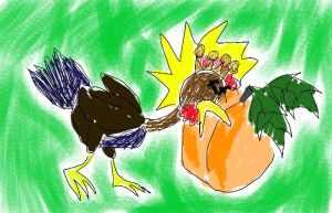 Rooster vs Peach by twitcher