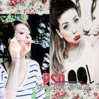 Love me or love me PSD by ItsQueenColors