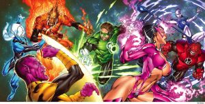 Blackest Night's Cover Original by Ed Benes by YogurthFrost