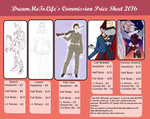 Commission Price Sheet by DreamMeToLife