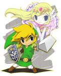 Chibi Link and Zelda by Mirai-Link