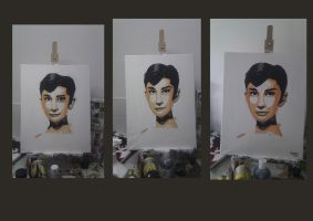 Audrey Hepburn progression by mojo01