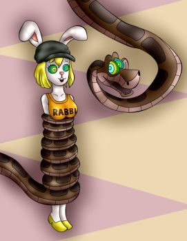 Kaa And Carrot by jerrydestrtoyer