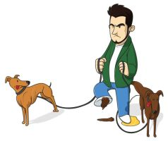 Greyhound trainer by Ian-Summers