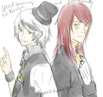 Rp Nicholas Et Vincent Speed Drawing by sango691