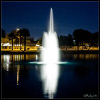 Night Fountain by lil-Mickey