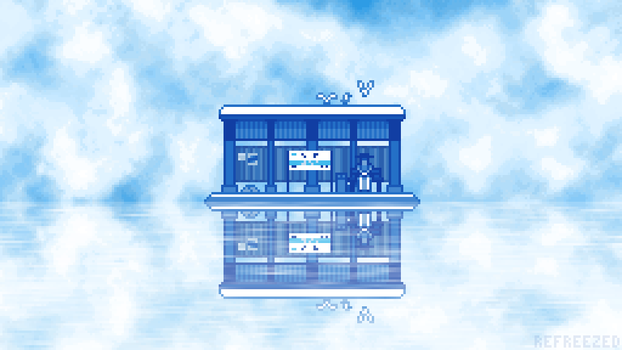 Sky Bus Stop by ReFreezed