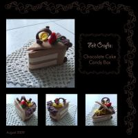Felt Craft - Chocolate Cake by ome-okane