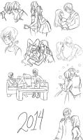 sketches 2014 by fanybunny