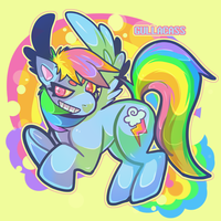 rainbow CRASH by Gullacass