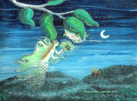 The Luna Moth Fairy, by Christine Mix by ChrisMixArt