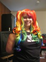 New Rainbow Wig by chaoticlatina