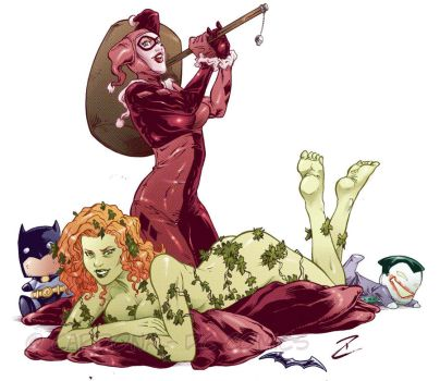Harley and Ivy COLOR by dekarogue