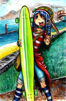Niina Bean, Dancer Longboard by Niina-Bean