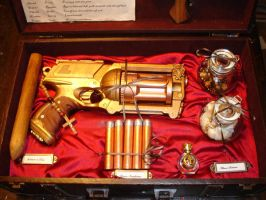 Steampunk Vampire Slaying Kit by DrJubal
