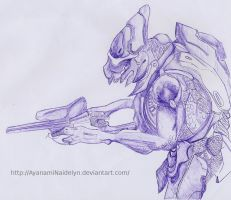elite (Sangheili) halo 4 by AyanamiNaidelyn