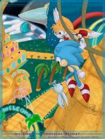 Sonic Tropical Space Park by Feniiku