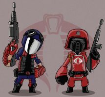 Crimson Guard and Viper by Sachmoe64