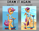 Scootin' Scootaloo: Side-by-Side Comparison by MykeGreywolf