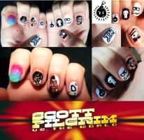 Scott Pilgrim vs The World Nail Art by KariInlove