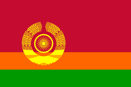 Flag of a Communist India by TheWeirdSerb