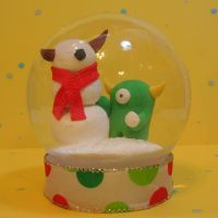 Timid SnowMonster Snowglobe by TimidMonsters