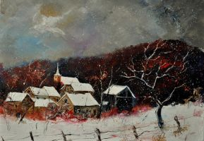 snow on the village 57 by pledent