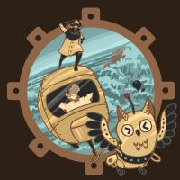 AirStream Trailer Themed T-shirt Fantasy Design by ShesscaMayWiver