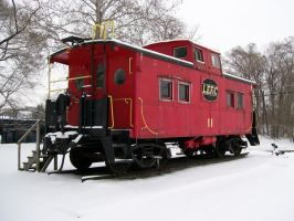 Northeastern Steel Caboose by LDLAWRENCE