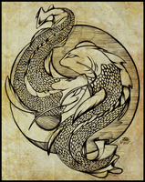 Koi doodle by DroseAttack