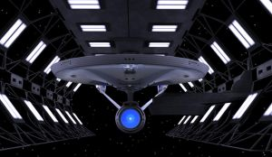 Enterprise 1701 Refit DryDock by Hatvok