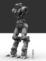 M.I.D.E. Mech wip 72 by Donvius