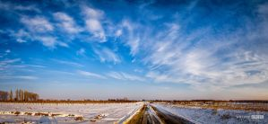 March snowy landscape by NorbertKocsis