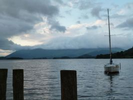 Cloud hides mountain by Bizkit66