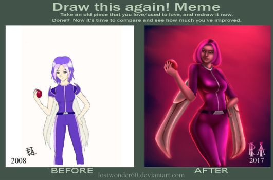 Before and After Challenge (Draw This Again Meme) by lostwonder60
