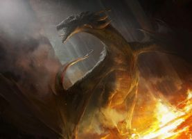 Fire Dragon by MazertYoung