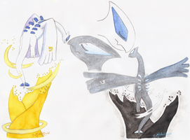 Aquarell Natit and Noire by MelodyCrystel