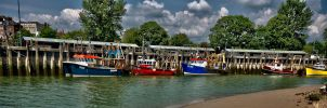 Fishing boats at Rye by forgottenson1
