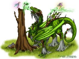 Forest Dragon by Ahr0