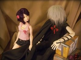 Haruka and Karasu as BJDs by erin-c-1978