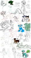 all dem wips by Lalaloraa