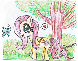 Fluttershy and her little Friend! by Fluttershy1989