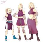 Ino's different ages/designs by Jazzie560