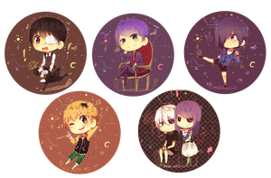 Tokyo Ghoul Badges by Dei-to