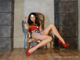 LegsEmporium Queen Elena as Wonder Woman by LegsEmporium