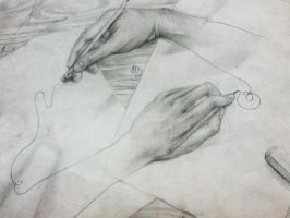 Hand Drawing Hand Erasing Hand by CjFagundo