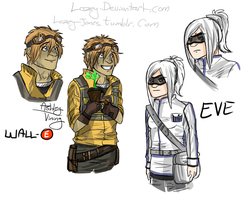 Human WALL-E sketches by Lozey