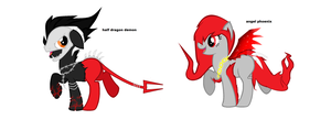 Demon and angel phoenix mlp auctions ( CLOSED ) by Leo-Adoptables