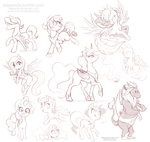 My Little Pony Free Sketches 4 by StePandy